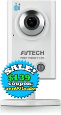VIRTUAL Security Guard: AVN801 1.3Megapixel Mic Built-In! IP Camera with Push Video Alert to your Iphone or Android