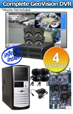 Geovision WEC-RACK-G-KIT-4CH-A650B Complete 4 Camera Surveillance Video System