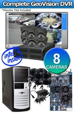 Geovision WEC-RACK-G-KIT-8CH-A650B Complete 8 Camera Surveillance Video System