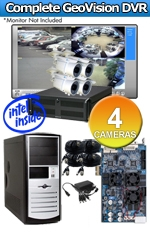 Geovision WEC-RACK-G-KIT-4CH-NG700W Complete 4 Camera Surveillance Video System