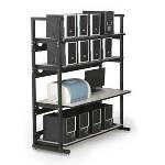 7100-1-100-48 Kendall Howard 48 inch 4 Post LAN Rack