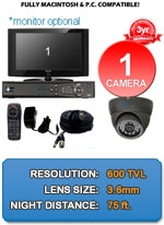 MAC and Windows Compatible H.264 1080p HD - Complete 1 Camera Video Security Camera System - IMAX-1CH-IMAX-A650IRB-KIT
