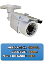 Outdoor Sony NIGHTGUARD-480-W High Resolution Color Bullet Camera