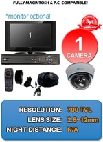 MAC and Windows Compatible H.264 1080p HD - Complete 1 Camera Video Security Camera System - IMAX-1CH-E700-KIT