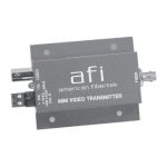 MTM-3C American Fibertek Single Channel Mini Module Camera Mount Transmitter FM Video System - 1300nm