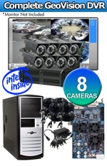 Geovision WEC-RACK-G-KIT-8CH-HPV650 Complete 8 Camera Surveillance Video System