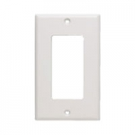 1-Gang Decor Wall Plate - White