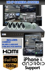 IMAX-SILVER4CHIPBUL-KIT - 4 Channel High Definition 1.3 Megapixel IP Bullet Camera Kit