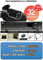 MAC and Windows Compatible H.264 1080p HD - Complete 32 Camera Video Security Camera System - IMAX-32CH-BL650IRB-KIT