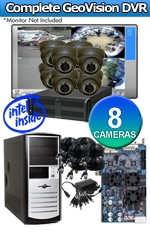 Geovision WEC-RACK-G-KIT-8CH-A1000B Complete 8 Camera Surveillance Video System