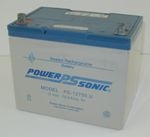 PS-12750 12 Volt/75 Amp Hour Sealed Lead Acid Battery with Nut-Bolt Terminal
