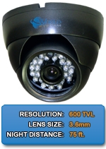 Outdoor/Indoor IMAX-A600IR-B High Resolution Color Dome Camera 3.6mm fixed lens