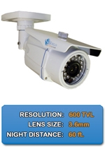 Outdoor NIGHTGUARD-650-W High Resolution Color Bullet Camera