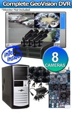 Geovision WEC-RACK-G-KIT-8CH-HRC520 Complete 8 Camera Surveillance Video System