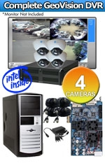 Geovision WEC-RACK-G-KIT-4CH-DM540 Complete 4 Camera Surveillance Video System