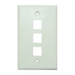 Wall Plate for Keystone, 3 Hole -White