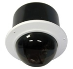 IRM7TS-9 Videolarm Indoor Vandal resistant recessed dome with ptz camera system, pendant mount. 23x zoom Day & night camera. RS422 w/ Videolarm, & Pelco P&D protocols. Tinted dome