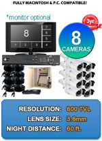 MAC and Windows Compatible H.264 1080p HD - Complete 8 Camera Video Security Camera System - IMAX-8CH-IMAX-BL650IRW-KIT