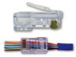 EZ-RJ45 CAT 6+ Connectors. Packaged in 50-piece clamshell.