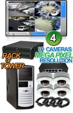 High Definition Megapixel 4 Vandal Proof Dome IP Camera System