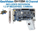 Geovision GV-1120B 16 Channel PCI Express Combo DVR Surveillance Card With GV-CB120 1.3 MP IP Camera (Software Included)