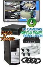 High Definition Megapixel 4 Bullet  IP Camera System