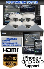 IMAX-SILVER4CHVDOME2-KIT - 4 Channel High Definition 1.3 Megapixel IP Dome Camera Kit