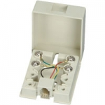 RJ11 4-Conductor Surface Mount Block - White