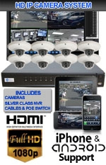 IMAX-SILVER8VDOME2-KIT - 8 Channel High Definition 2.0 Megapixel IP Dome Camera Kit