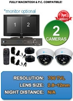MAC and Windows Compatible H.264 1080p HD - Complete 2 Camera Video Security Camera System - IMAX-2CH-SonyEffio700-Kit