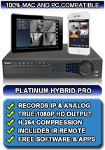 32 Channel High Definition Hybrid Network Video Recorder - Records IP and Analog Cameras