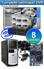Geovision WEC-RACK-G-KIT-8CH-DM540LITE Complete 8 Camera Surveillance Video System