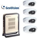 86-NRMD1-001 Geovision NVR-Lite System + 4 pcs IP Mini Fixed Dome Camera H.264, w/ 3.6mm lens