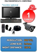 MAC and Windows Compatible H.264 1080p HD - Complete 1 Camera Video Security Camera System - IMAX-1CH-IMAX-HPV650B-KIT