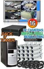High Definition Megapixel 16 Bullet IP Camera System