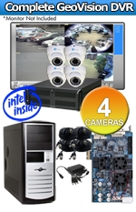 Geovision WEC-RACK-G-KIT-4CH-A700W Complete 4 Camera Surveillance Video System