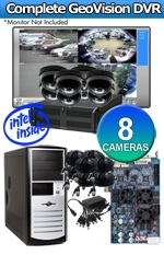 Geovision WEC-RACK-G-KIT-8CH-WYCM20S Complete 8 Camera Surveillance Video System