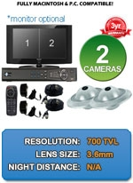 MAC and Windows Compatible H.264 1080p HD - Complete 2 Camera Video Security Camera System IMAX-2CH-UFO700-KIT