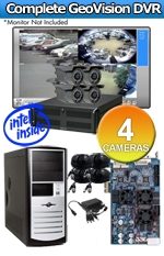 Geovision WEC-RACK-G-KIT-4CH-NG600BL Complete 4 Camera Surveillance Video System