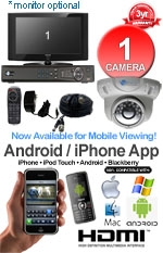MAC and Windows Compatible H.264 1080p HD - Complete 1 Camera Video Security Camera System - IMAX-1CH-DM600-KIT