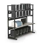 7100-1-100-60 Kendall Howard 60 inch 4 Post LAN Rack