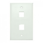 Wall Plate for Keystone, 2 Hole -White