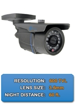 Outdoor NIGHTGUARD-650-B High Resolution Color Bullet Camera 3.6mm fixed lens
