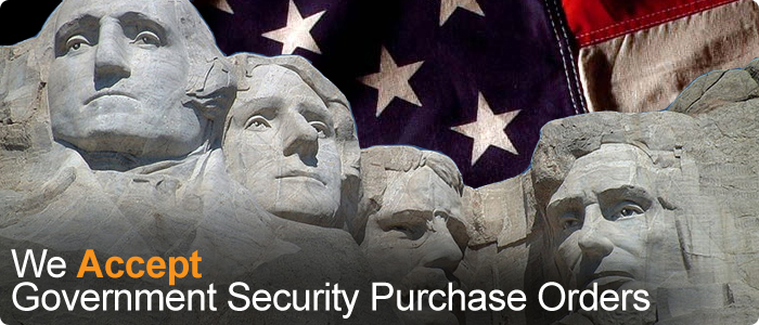We accept government security purchase orders