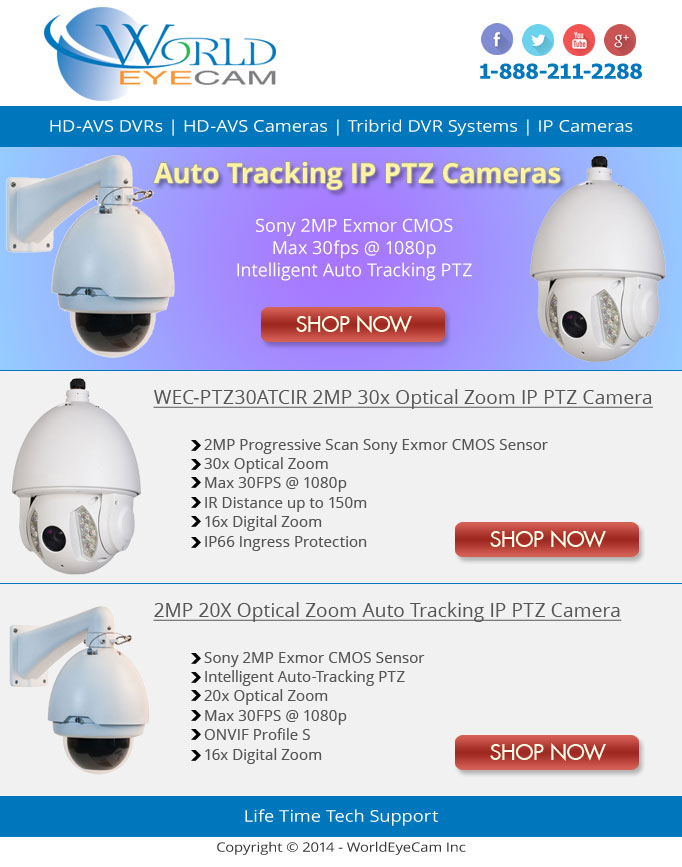 Auto-Tracking IP PTZ Newsletter
